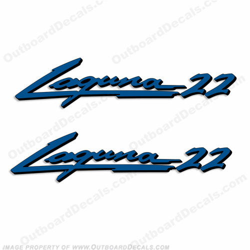 "Sea Ray ""Laguna 22"" Boat Decals - Set of 2"