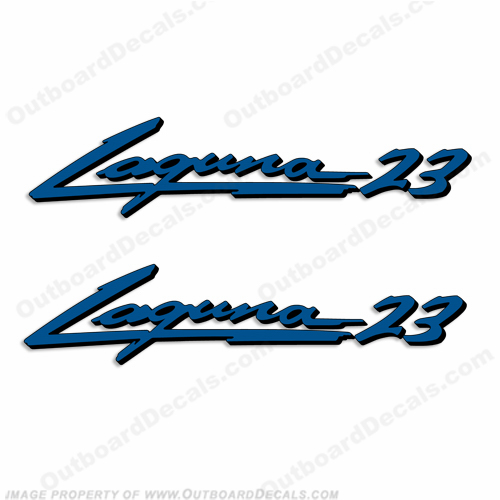 "Sea Ray ""Laguna 23"" Boat Decals - Set of 2"