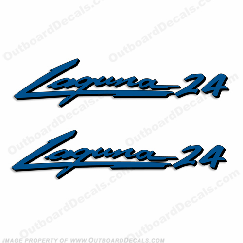 "Sea Ray ""Laguna 24"" Boat Decals - Set of 2"