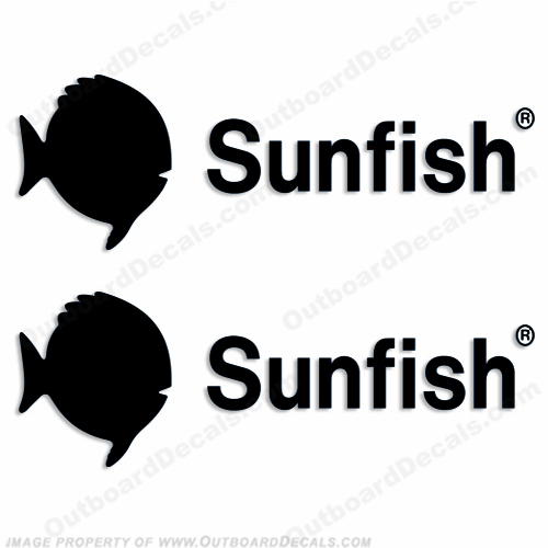Sunfish Sail Boat Decal (Set of 2) - Any Color!
