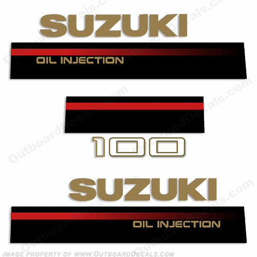 Suzuki 1995 100hp 2-Stroke Decal Kit
