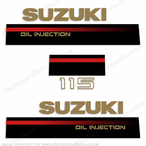 Suzuki 1995-1997 115hp 2-Stroke Decal Kit