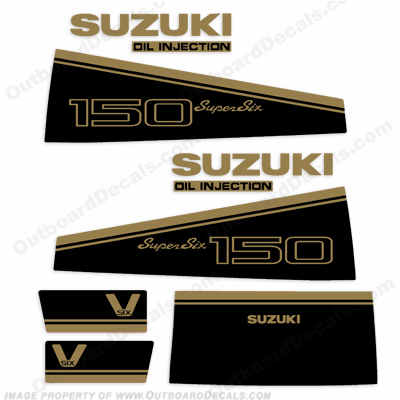 Suzuki DT 150hp Decal Kit - 1988