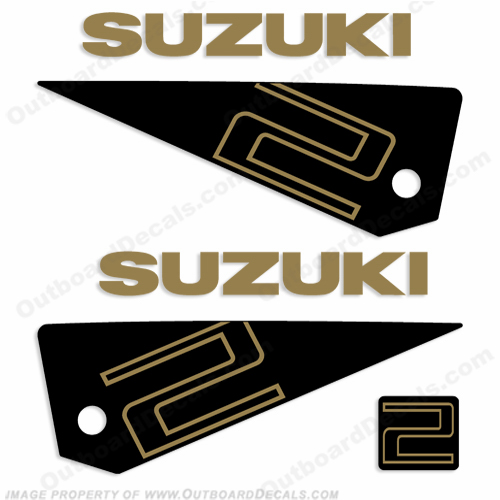 Suzuki 2hp Decal Kit