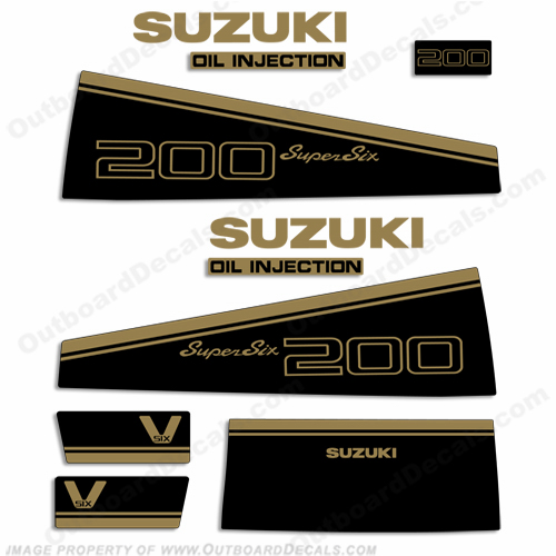 Suzuki DT 200hp Decal Kit - 1988