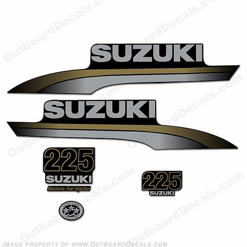 Custom suzuki 225 decal kit for Custom outboard motor decals