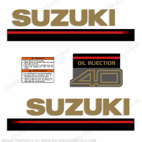 Suzuki 1995 40hp 2-Stroke Decal Kit