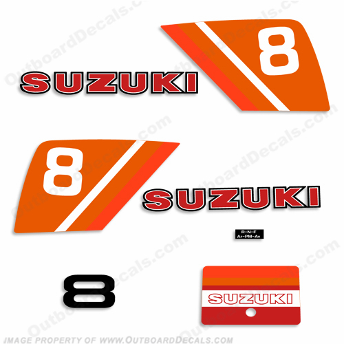 Suzuki 8hp Decal Kit