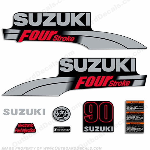Suzuki 90hp DF90 Decal Kit - 2003 - 2009