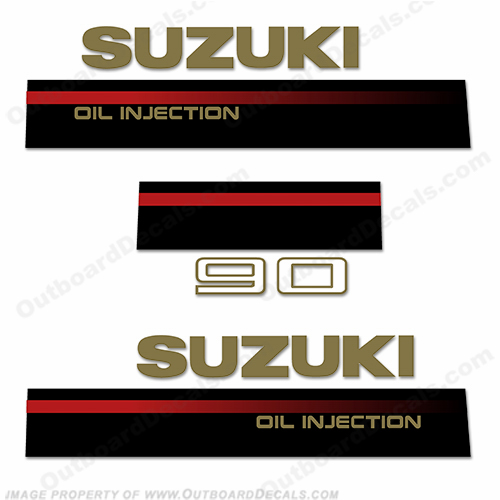 Suzuki 1995 90hp 2-Stroke Decal Kit