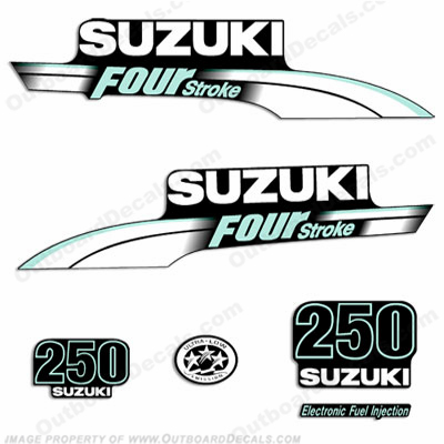 Suzuki 300hp Custom Decal Kit - Sea Green