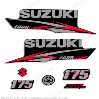 Suzuki 175hp DF175 Decal Kit - 2010 - 2013