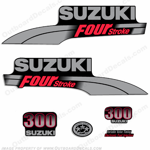 Suzuki 300hp DF300 Decal Kit