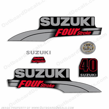 Suzuki 40hp DF40 Decal Kit