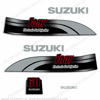 Suzuki 60hp DF60 4-Stroke Decal Kit - 1998 - 2002