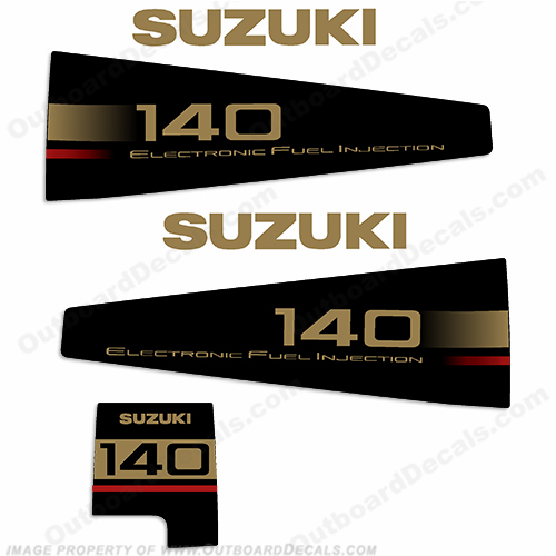 Suzuki DT 140hp Decal Kit - 1998 - 2000