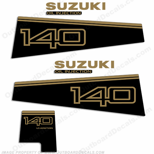 Suzuki DT 140 Decal Kit - 1996