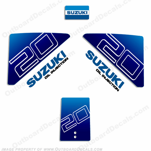 Suzuki 20hp Decal Kit