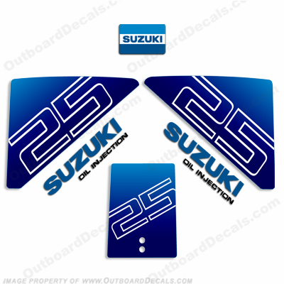Suzuki 25hp Decal Kit