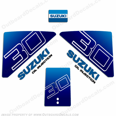 Suzuki 30hp Decal Kit