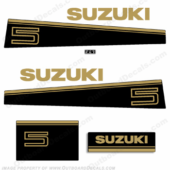 Suzuki 5hp DT5 Decal Kit - Late 80&#39s to Early 90&#39s
