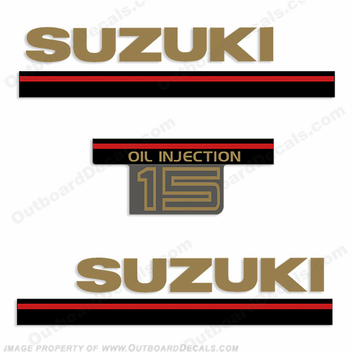 Suzuki 1995 15hp 2-Stroke Decal Kit