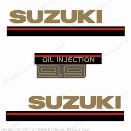 Suzuki 1995 9.9hp 2-Stroke Decal Kit