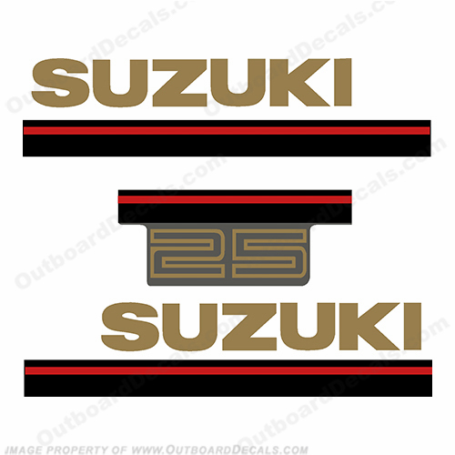 Suzuki 1995 25hp 2-Stroke Decal Kit
