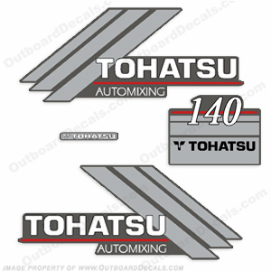 Tohatsu 140 Outboard Engine Decals