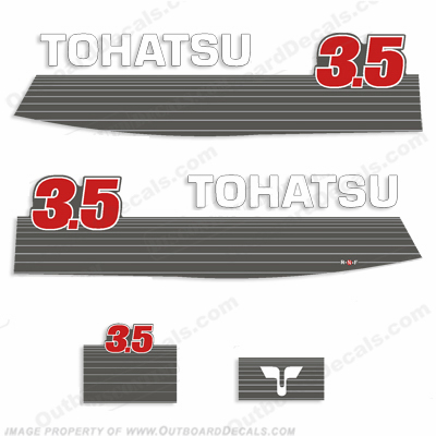 Tohatsu 3.5 Outboard Engine Decals - 1990&#39s