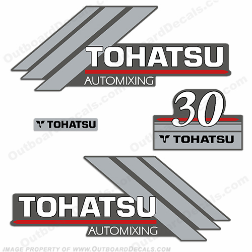 Tohatsu 30hp AutoMixing Decal Kit