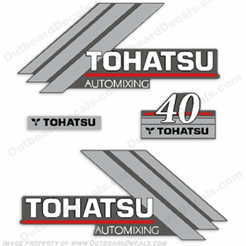 Tohatsu 40 Outboard Engine Decals