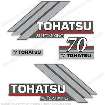 Tohatsu 70 Outboard Engine Decals