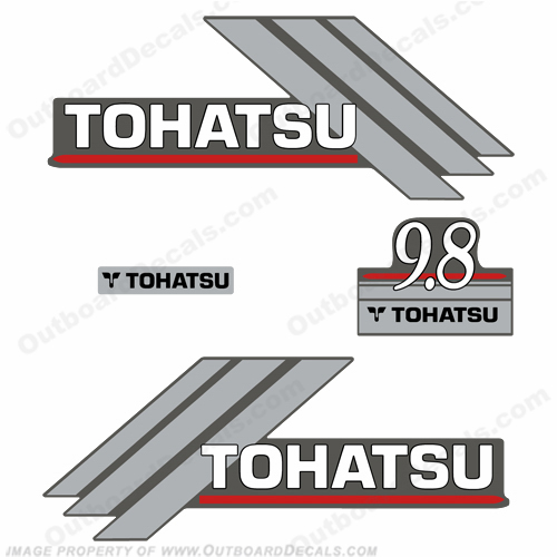 Tohatsu 9.8hp Outboard Engine Decals - 2000&#39s