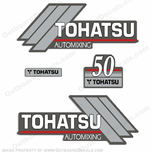 Tohatsu 50 Outboard Engine Decals