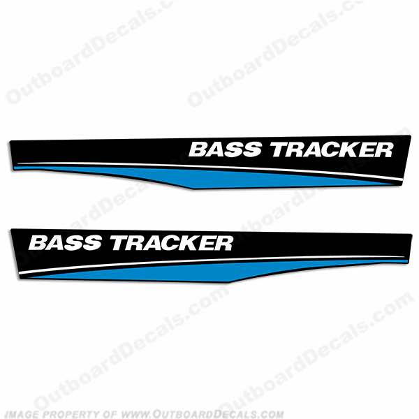 Bass Tracker Boat Decals - Blue