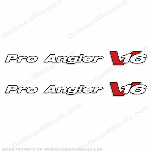 Pro Angler V16 Decals for Tracker Boats