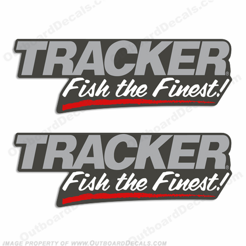 "Tracker Bass Boats ""Fish the Finest"" Decals"