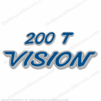 Vision 200T Boats Decal - Blue/Silver