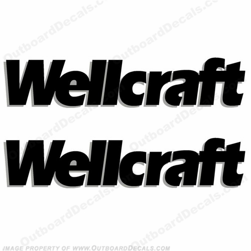 Wellcraft Boat Decals - Style 1 (Set of 2) - 2 Color!
