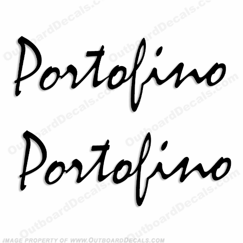 "Wellcraft ""Portofino"" Boat Logo Decals - Any Color!"