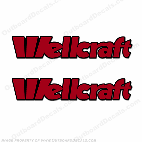 Wellcraft Boat Decals - Style 2 (Set of 2) - 2 Color!