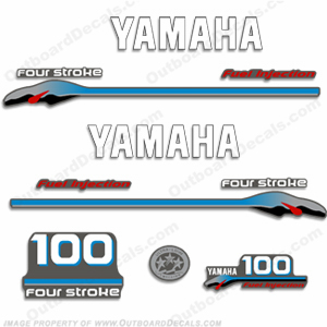 Yamaha 100hp 4-Stroke Fuel Injected Decal Kit - 2000