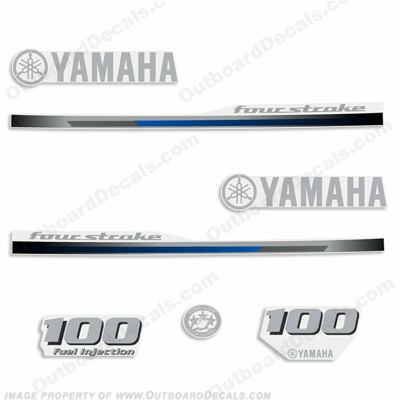 Yamaha 100hp Fourstroke Decal Kit - 2013