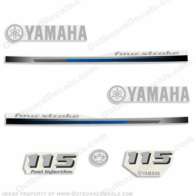 Yamaha 115hp Fourstroke Decal Kit - 2013