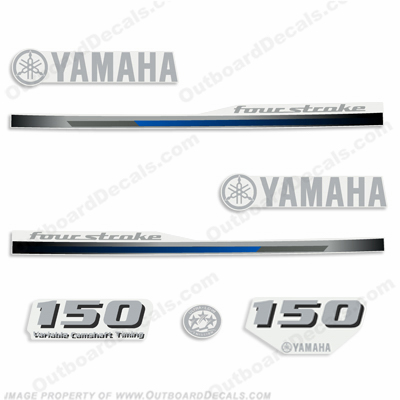 Yamaha 150hp Fourstroke Decal Kit - 2013