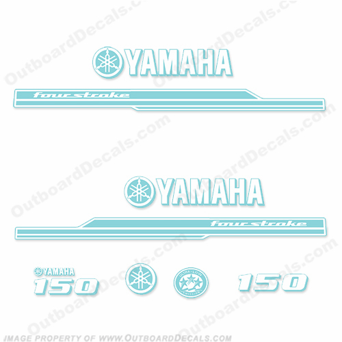 Yamaha 150hp Decal Kit - Any Color! (Reverse)