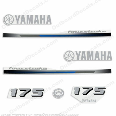 Yamaha 175hp Fourstroke Decal Kit - 2013