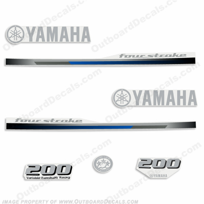 Yamaha 200hp Fourstroke Decal Kit - 2013+
