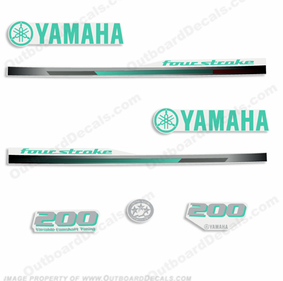 Yamaha 2013 Style 200hp Decals - Any Color!